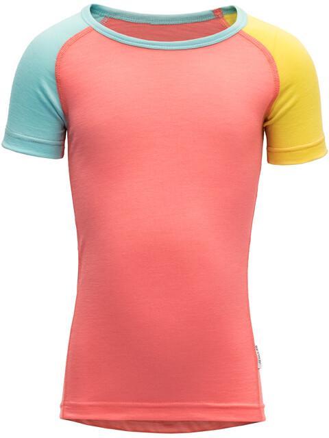 Devold Breeze T-Shirt Kids Coral